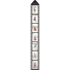 Print a photo as film-strip for hang up