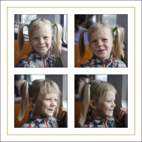 Print 4 photo 15 x 15 cm on 40 x 40 cm paper size (12 mm gap)